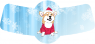 Holiday Bottle Neck Label - Christmas Corgi