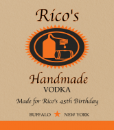 Birthday Liquor Label - Handcrafted Vodka