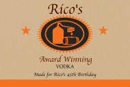Birthday Mini Liquor Label - Handcrafted Vodka