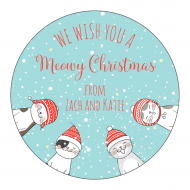 Holiday Sticker - Meowy Christmas