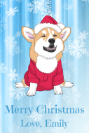 Holiday Gift Tag - Christmas Corgi