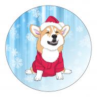 Holiday Label - Christmas Corgi