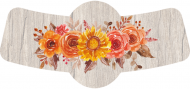 Holiday Bottle Neck Label - Thanksgiving Floral