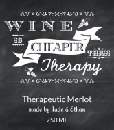 Expressions Wine Label - Chalkboard