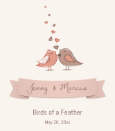Wedding Wine Label - Birds of a Feather