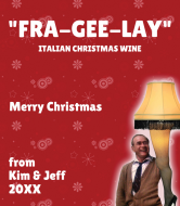 Holiday Wine Label - Fra Gee Lay