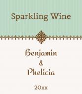 Anniversary Wine Label - Sea of Sage