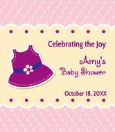 Baby Wine Label - Purple Pinafore