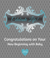 Baby Wine Label - Celebrate Life Blue