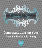 Baby Wine Label - Celebrate Life Blue