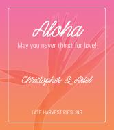 Wedding Wine Label - Aloha