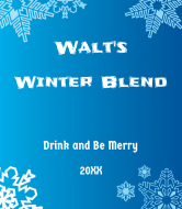 Holiday Wine Label - Winter Blend