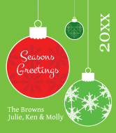 Holiday Wine Label - Christmas Ornaments
