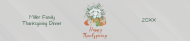 Holiday Water Bottle Label - Thanksgiving Flowers and Pumpkins