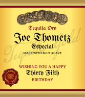 Birthday Liquor Label - Tequila Especial
