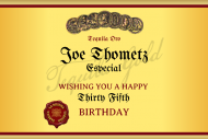 Birthday Mini Liquor Label - Tequila Especial