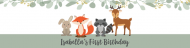 Birthday Custom Label Bottled Water - Botanical Woodland Creatures