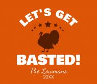 Holiday Beer Label - Let's Get Basted