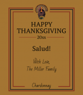 Holiday Wine Label - Thanksgiving