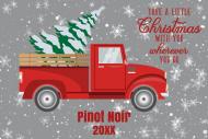 Holiday Mini Wine Label - Retro Red Christmas