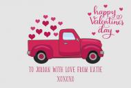 Holiday Growler Label - Valentine Retro Truck