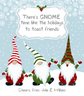 Holiday Wine Label - Gnome Time