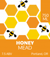 Liquor Label - Bee Hive Mead