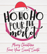 Holiday Wine Label - Ho Ho Ho Pour The Merlot