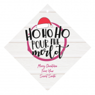 Holiday Wine Hang Tag - Ho Ho Ho Pour The Merlot
