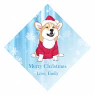 Holiday Wine Hang Tag - Christmas Corgi