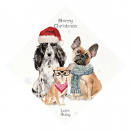 Holiday Wine Hang Tag - Christmas Dogs