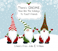 Holiday Beer Can Label - Gnome Time