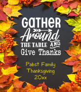 Holiday Wine Label - Gather Around The Table