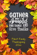 Holiday Large Wine Label - Gather Around The Table