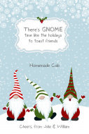 Holiday Large Wine Label - Gnome Time