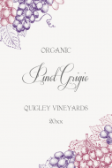 Large Wine Label - Organic Wine