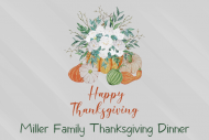 Holiday Mini Wine Label - Thanksgiving Flowers and Pumpkins