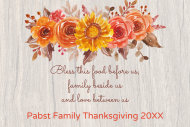 Holiday Mini Wine Label - Thanksgiving Floral