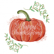 Holiday Mini Wine Label - Thanksgiving Pumpkin
