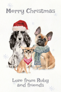 Holiday Gift Tag - Christmas Dogs