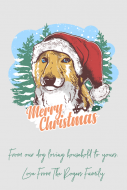 Holiday Gift Tag - Christmas Dog