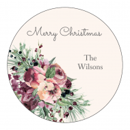 Holiday Label - Evergreen Berries