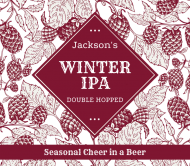 Beer Can Label - Holiday Hops