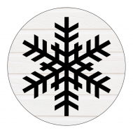 Holiday Sticker - Country Snowflake