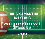 Beer Can Label - Superbowl Party