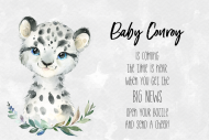Baby Mini Champagne Label - Baby Snow Leopard