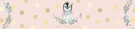 Birthday Water Bottle Label - Baby Girl Penguin