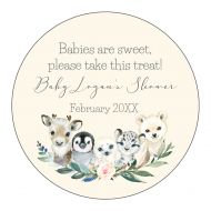 Baby Sticker - Winter Baby Animals