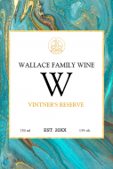 Expressions Large Wine Label - Aqua Marble