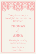 Wedding Large Wine Label - Love Story Wedding